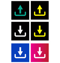 upload download icon vector image