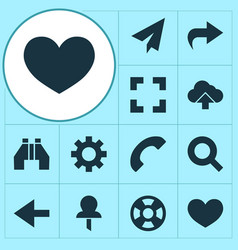 user icons set collection of origami load vector image