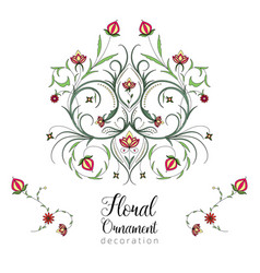vintage floral ornament for invitations to vector image