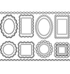 Frames borders vector