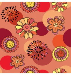 round floral vector image vector image