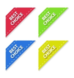 Set of Flat Signs Best Choice vector image vector image