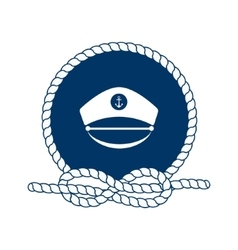 Symbol of sailors sail cruise and sea vector image