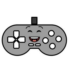 video game control kawaii character vector image