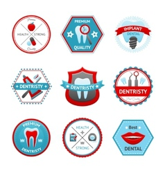Dental emblem set vector