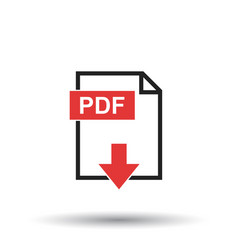 pdf icon on white background vector image