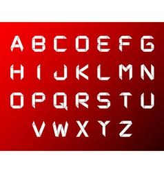 set of origami alphabet vector image