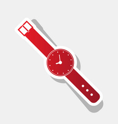 watch sign new year reddish vector image vector image