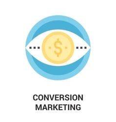 Conversion marketing icon concept vector