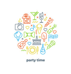event party entertainment carnival festive vector image