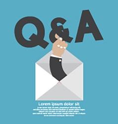 QA Typography In Hand vector image