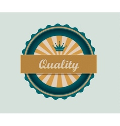 Retro quality label vector image