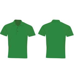 green polo t shirt vector image vector image