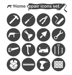 Home repair and renovation icons set vector image