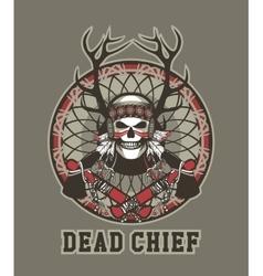 Indian skull chief vector