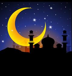 ramadan kareem arabian night vector image