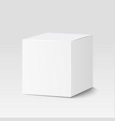 White square box Cardboard box container vector image