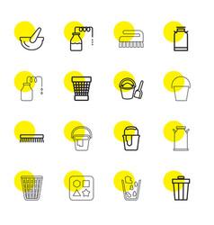 16 bucket icons vector image