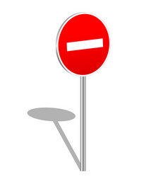 3d do not enter sign vector