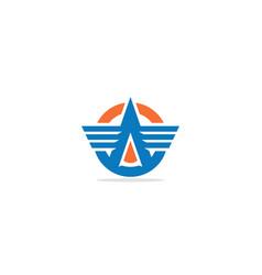 a shape emblem company logo vector image