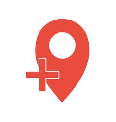 add location icon location logo concept vector image