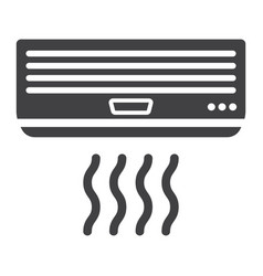 Air conditioner solid icon electric and appliance vector
