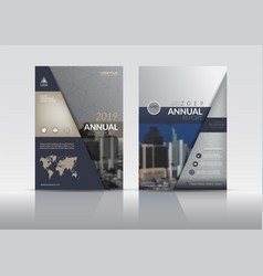 annual report cover brochure flyer design template vector image