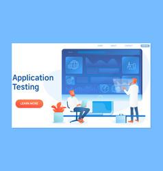 application programming and testing vector image