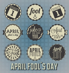 April Fools Day Labels and Icons vector