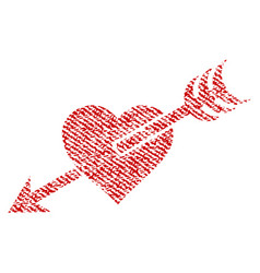 arrow heart fabric textured icon vector image
