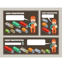 Automobile cargo transportation Leaflet banner vector image
