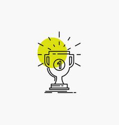 award cup prize reward victory line icon vector image