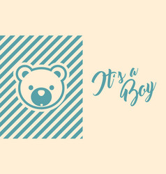 baby boy shower invite greeting card vector image