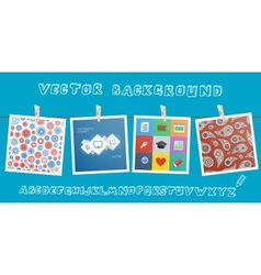 Background with hanging images vector