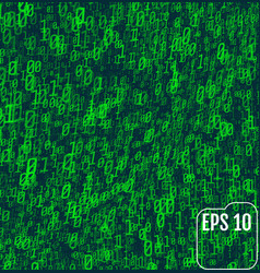 binary code on green background background in a vector image