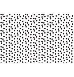 black white scattered dots polka background vector image