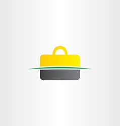 briefcase logo element symbol design vector image