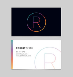 business-card-letter-r vector image
