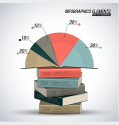 business infographics concept vector image