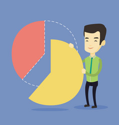 business man taking his share of the profits vector image