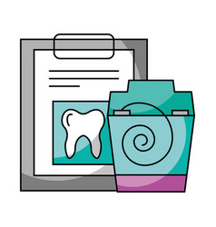 check up floos hygiene dental care vector image