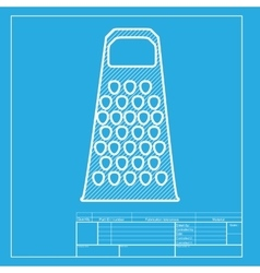 Cheese grater sign White section of icon on vector image