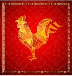 Chinese New Year 2017 Rooster horoscope symbol vector image