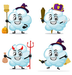 Cloud mascot or character vector
