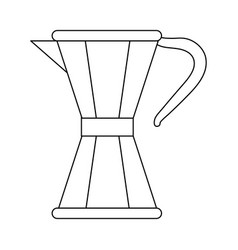 Coffee maker moka in black and white vector