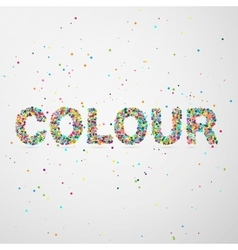 Color word consisting of colored particles vector