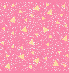 Colorful abstract pattern with yellow triangles on vector