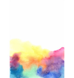 colorful rainbow watercolor background vector image