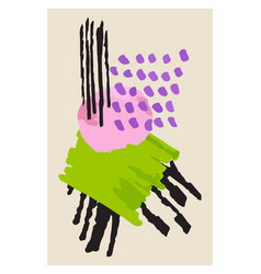 creative minimalist hand painted abstract vector image