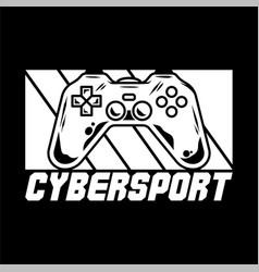Cybersport logo design vector